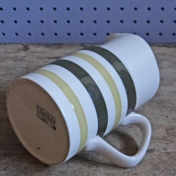 Vintage Evergreen striped milk jug by Staffordshire Potteries