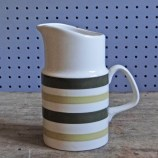 Vintage Evergreen striped milk jug by Staffordshire Potteries