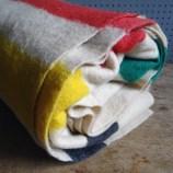 Striped woollen blanket