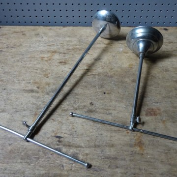 Pair of vintage metal T-bar stands | H is for home