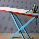 Wooden toy iron and ironing board