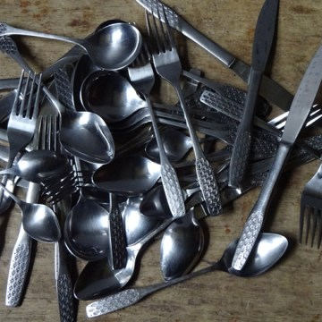Vintage Viners Shape cutlery set | H is for Home