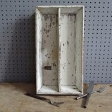 white-painted wooden cutlery tray