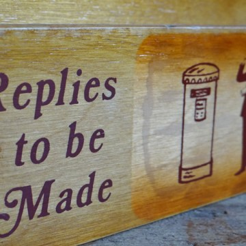 Wooden letter rack