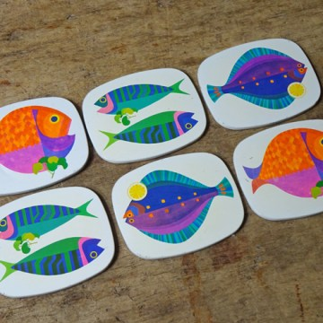 Vintage Worcester Ware fish coasters | H is for Home