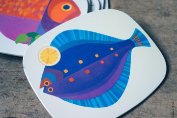 Worcester Ware fish place mats