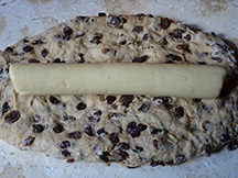 Wrapping paasstol dough around almond paste | H is for Home