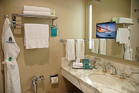 Chrome hanging towel racks
