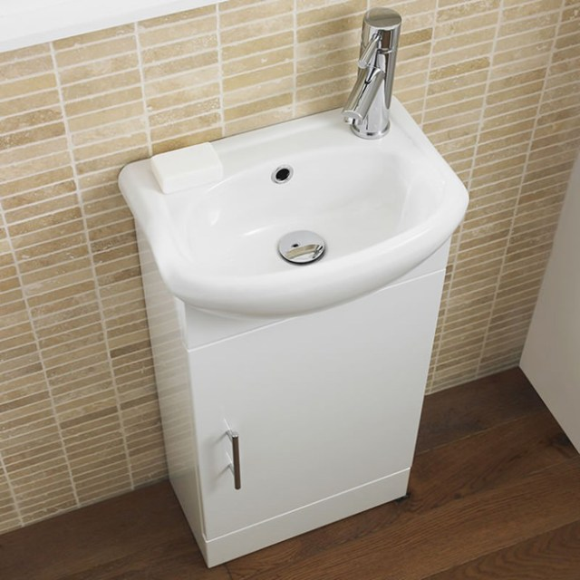 Compact bathroom vanity