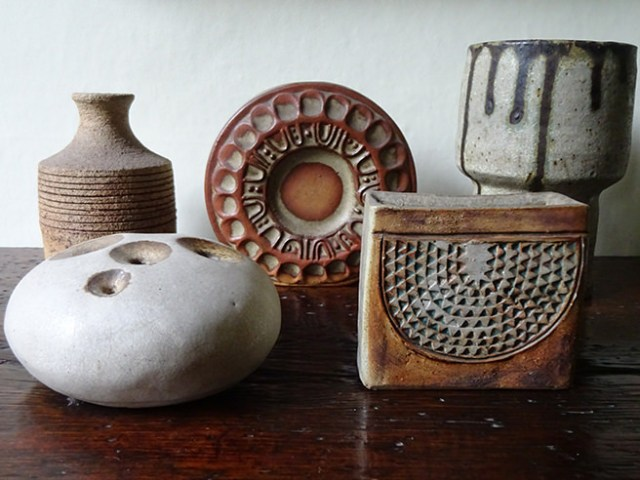 Collection of studio pottery stoneware vases | H is for Home