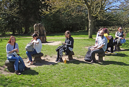 Yorkshire bloggers on a quick stop in St Ives Estate's picnic area