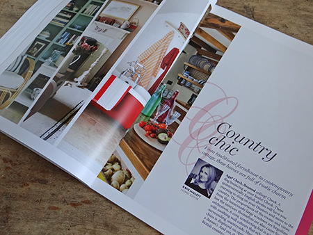 'Country Chic' page from Homes and Antiques' book
