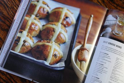 "hot cross bun recipe from the ""How to Make Bread"" book"