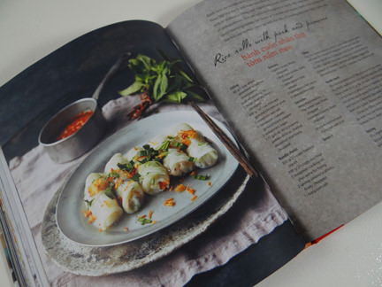 """rice roll recipe in """"My Vietnamese Kitchen"""" cookery book"""
