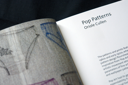 page from V & A Pop Patterns book by Oriole Cullen