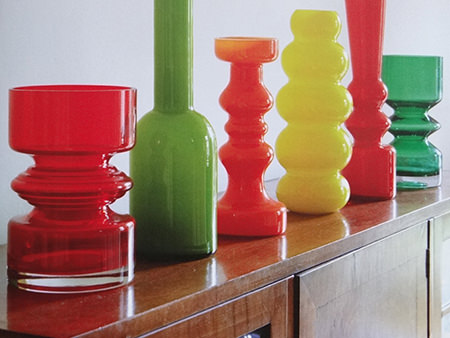 Collection of vintage art glass vases in various colours | H is for Home