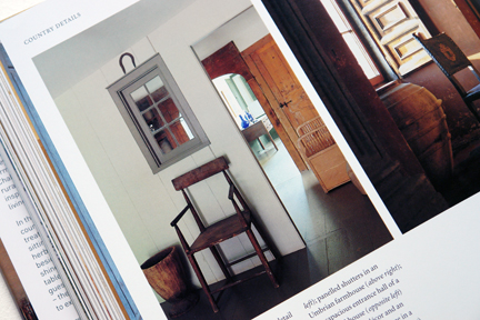 """page showing a simple country chair from """"The Way We Live In the Country"""" by Stafford Cliff & Gilles de Chabaneix"""