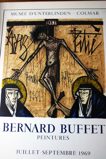 detail from vintage 1968 Bernard Buffet exhibition poster | H is for Home