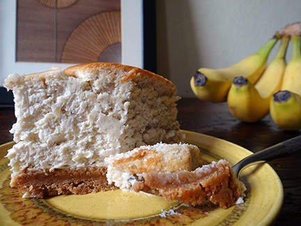 Baked banana cheesecake | H is for Home