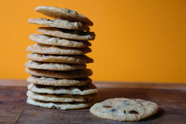 Stack of home-made chocolate chip & brazil nut cookies | H is for Home