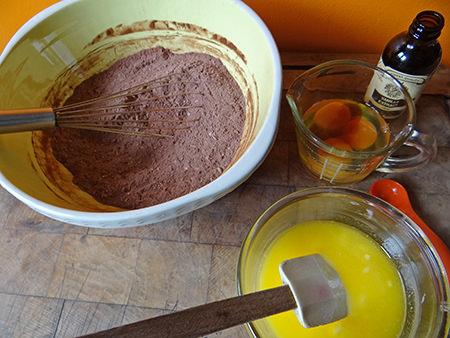 coconut brownie dry and wet ingredients   via @hisforhome #recipe #chocolate #brownies