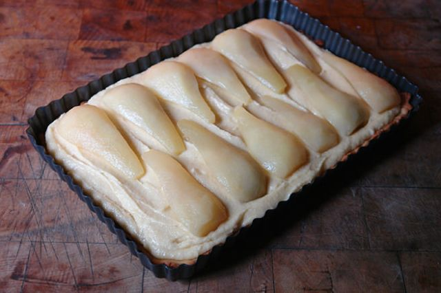 French pear tart before being put in the oven | H is for Home