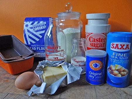 Hokkaido milk bread ingredients