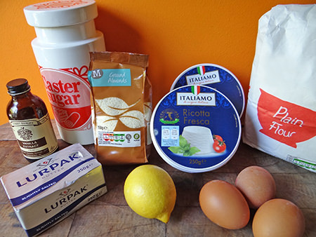 Italian cheesecake ingredients