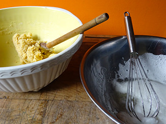 Whisked egg whites | H is for Home