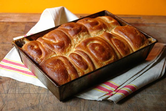 Cooked panipopo on a oven cloth | H is for Home