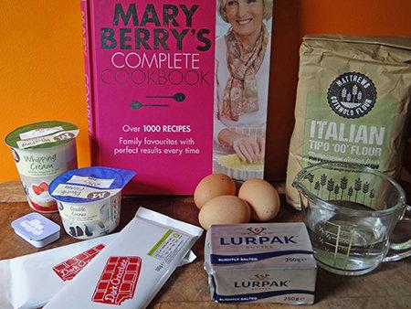 Chocolate profiteroles ingredients