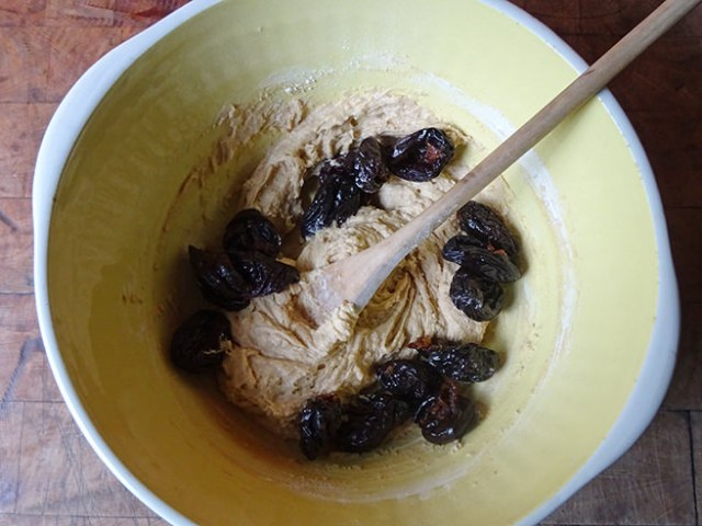 Home-made prune and almond fruit cake mixture | H is for Home