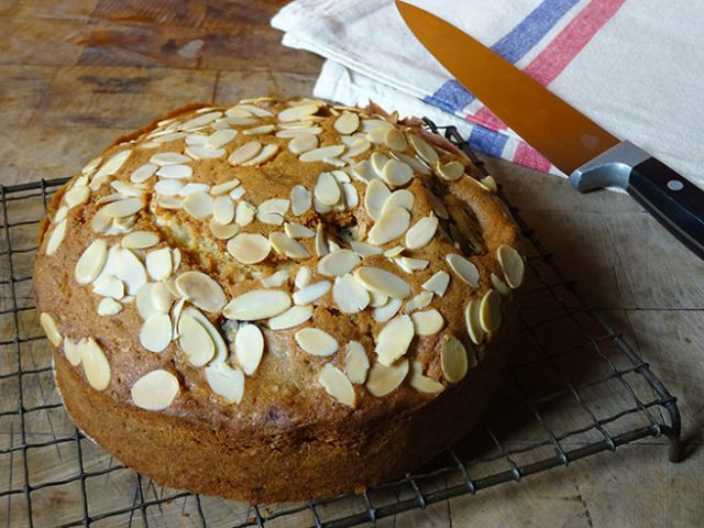 Home-made prune and almond fruit cake | H is for Home