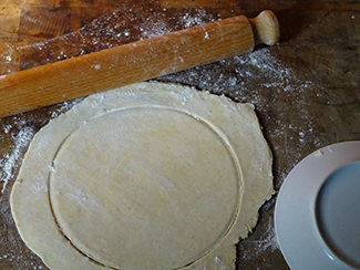Circle of sourdough pastry | H is for Home