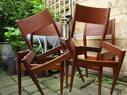4 teak chair carcasses