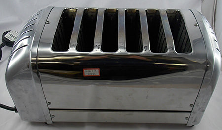 6-slice Dualit toaster for sale on eBay for Charity by & in support of British Heart Foundation