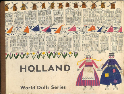 vintage children's book cover about Holland | H is for Home