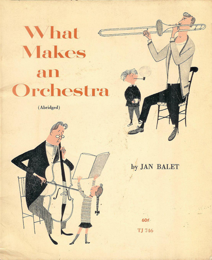 Cover of 'What Makes an Orchestra' vintage children's book | H is for Home