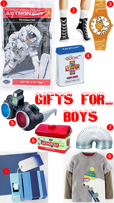 selection of gifts for boys