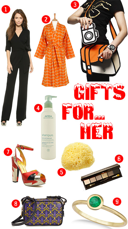 selection of Christmas gifts for women