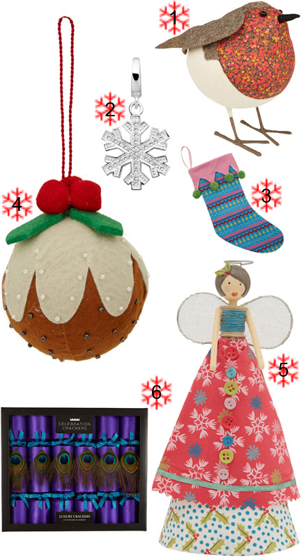 selection of Christmas items from Liberty of London