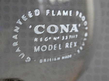 detail showing Cona branding | H is for Home