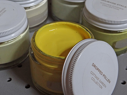 open sample paint pot of Dropped Pollen by Paint by Conran