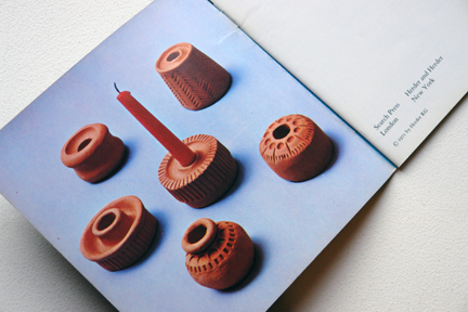 pages from a vintage craft booklet on how to make clay candle holders