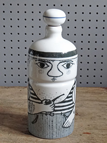Vintage Altenstadt pottery sailor bottle