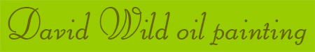 'David Wild oil painting' blog post banner