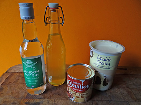 Elderflower no churn ice cream ingredients