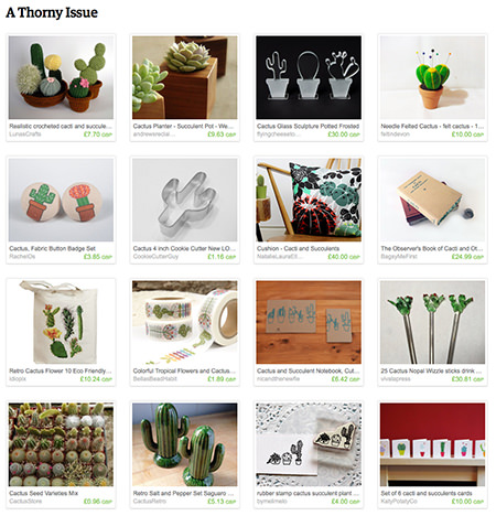 'A Thorny Issue' Etsy List featuring cacti by H is for Home