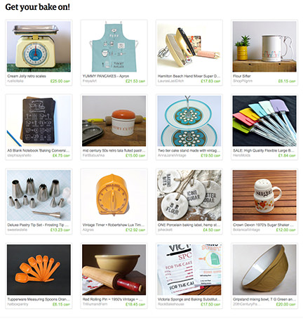 'Get your bake on!' Etsy List curated by H is for Home