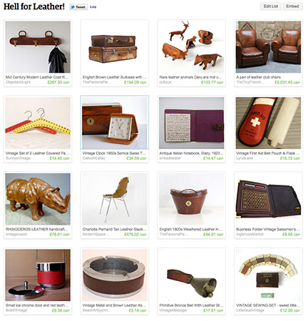 'Hell for leather!' Etsy List curated by H is for Home